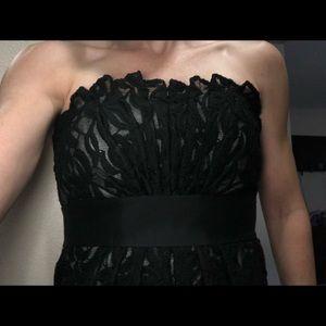 White House black market black lace cocktail dress